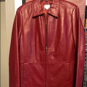 A PT 9 red leather jacket size M